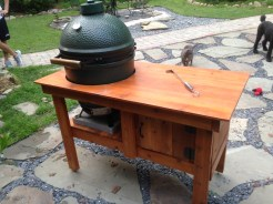 Cedar Big Green Egg table