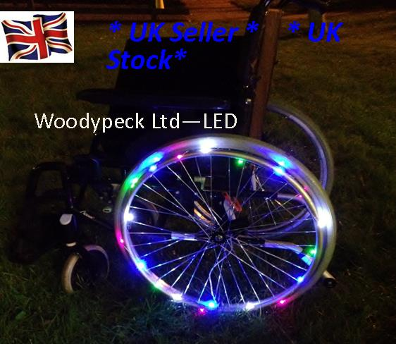 Wheelchair wheel lights