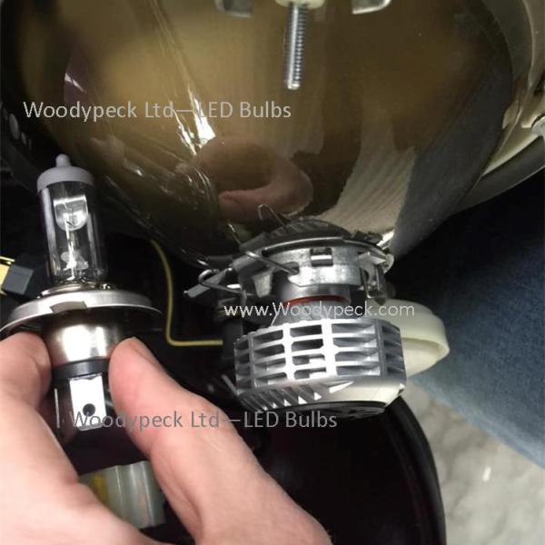 LED fitted vs old halogen bulb