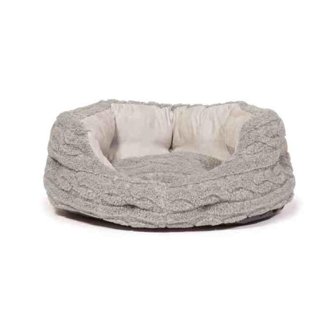 Bobble Pewter Bolster Dog Bed