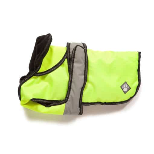 2 in 1 Ultimate Dog Coat in Reflective Yellow
