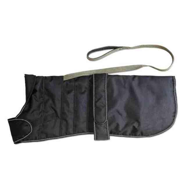 Wind- Waterproof Harness Dog Coat in Black