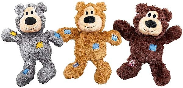 Patchwork Dog Toy Brown -Grey -Natural