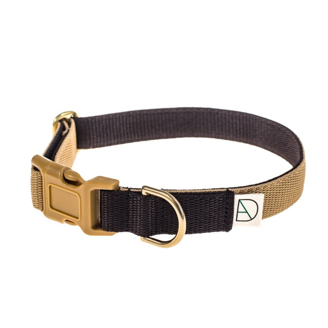 Dog collar Beige and Brown