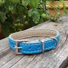 Leather collar denim