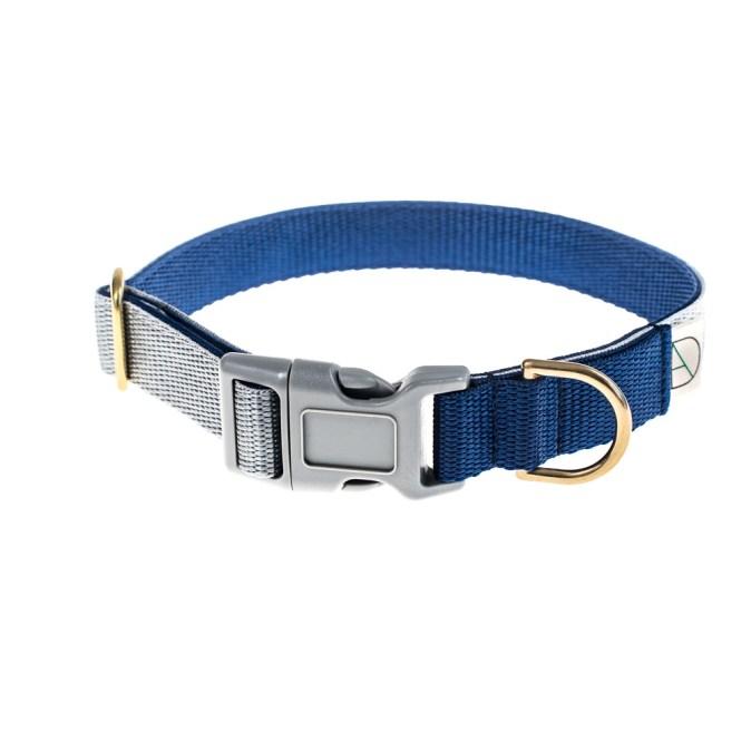 Grey And Navy Dog Collar
