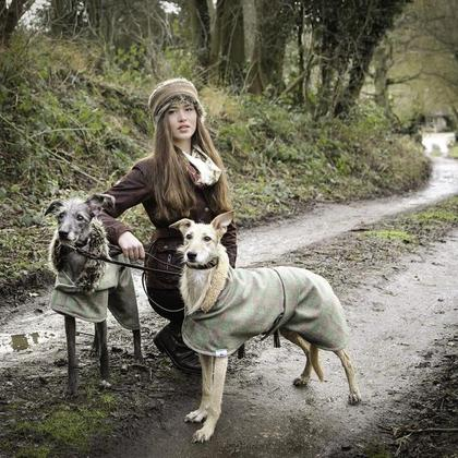 Tweed Estate Dog Coat - Sherpa & Faux Fur Collars