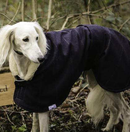 Tweed Estate Dog Coat With Sherpa Collar (Sightsounds) - Liberty