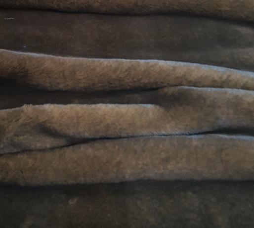 Brown Soft Faux Fur Dog Blanket