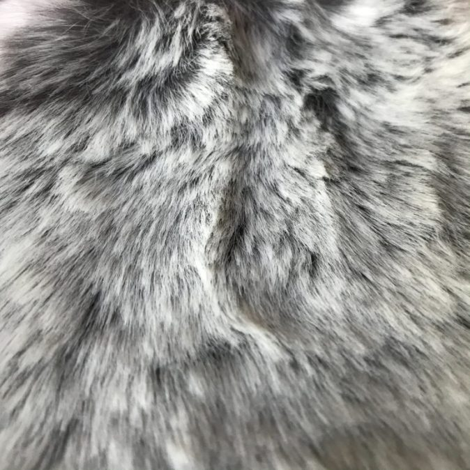 Grey Squirrel Faux Fur Dog Blanket
