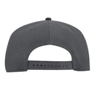 WOOF Wool Blend Snapback Cap - Charcoal/Black Back
