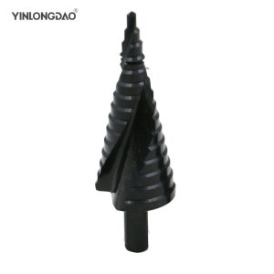 1 PC 4-12/20/32 HSS Step Drills Nitrogen High Speed Steel Spiral for Metal Cone Drill Bit Set Triangle Shank Hole Cutter
