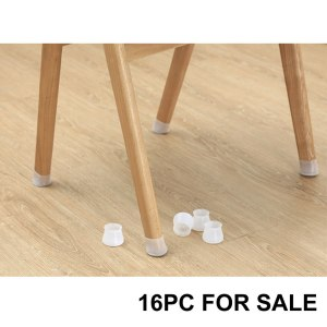 16pcs Anti-Slip Furniture Legs Feet Speaker Cabinet Bed Table Box Conical Rubber Shock Pad Floor Protector Furniture Parts