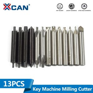 XCAN 13pcs T101 Key Cutting Machine Spare Parts for Vertical Key Machine Guide Pin Milling Cutter Center Drill Locksmith Tools