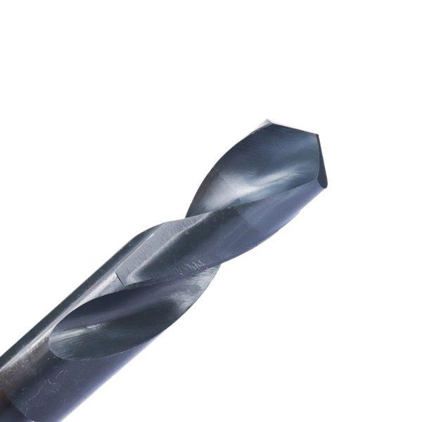 Twist Drill Bit Reduced Shank 1/2'' Nitride Coated Metal Hole Drilling Cutter Gun HSS Drill Bit