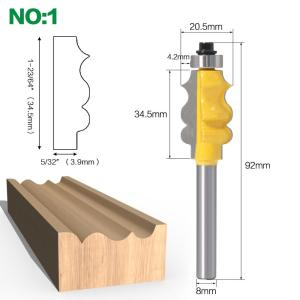 1PC 8mm Shank Picture Frame / Molding Router Bit - Large Trimming Wood Milling Cutter for Woodwork Cutter Power Tools
