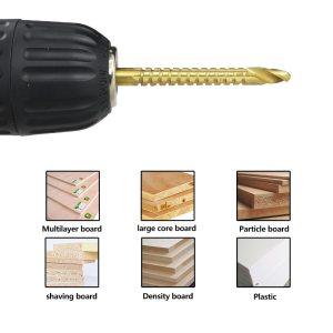 Titanium Coated HSS Drill Bit 3/4/5/6/6.5/8m Electric Drill Plastic Wood Hole Grooving Drill Saw Carpenter Woodworking Tool