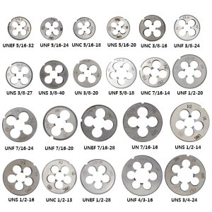 XCAN 1pc 5/16 3/8 7/16 1/2 5/8 3/4 UNC UNF UNEF Right Hand Thread Die Threading Tools