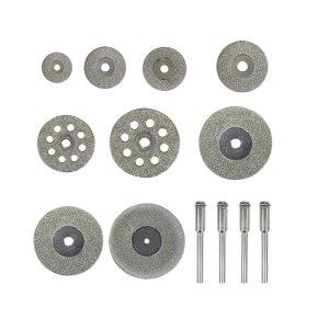XCAN Diamond Cutting Disc 32pcs Mini Circular Saw Blade Set Diamond Grinding Wheel for Dremel Rotary Tools