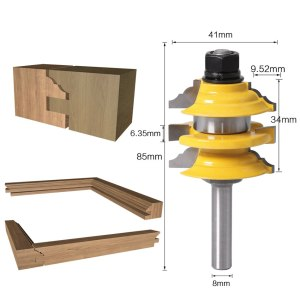 "1 pcs 8mm"" Shank Rail & Stile Router Bit Ogee Stacked Wood Cutting Tool woodworking router bits"