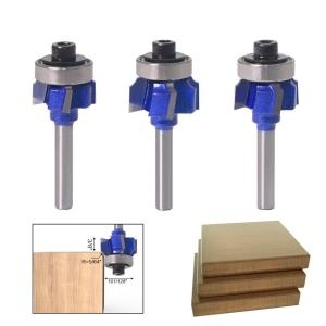 "1PC 1/4"" Shank high quality Woodworking Milling Cutter R1mm R2mm R3mm Trimming Knife Edge Trimmer 4 Teeth Wood Router Bit"