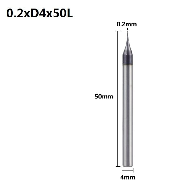 XCAN 1pc 0.2-0.9mm TiAIN Micro Flat End Mill 4mm Shank 4 Flute Milling Cutter HRC 55 Mirco Carbide CNC Engraving Bit Router Bit
