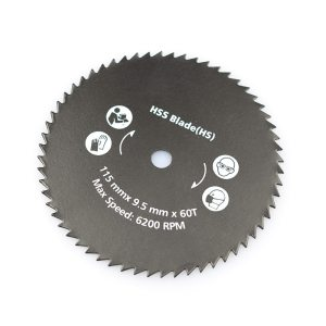 XCAN 1pc 115x9.5mm 60T Nitride Coated Circular Saw Blade For Power Tools Wood Cutting Disc