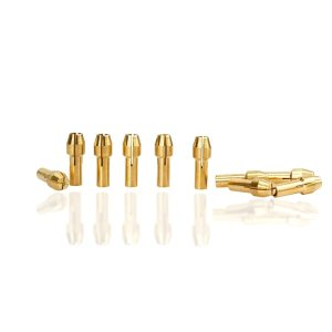 Mini Drill Collet Chuck 10pcs 0.5-3.2mm Diameter 4.8mm Shank Brass Chucks for Dremel Rotary Tool Power Tool Accessory
