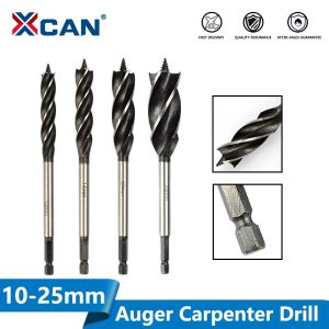 Wood Cutter Twist Drill Bit Hex Shank Wood Hole Cutter 4 Flute Auger Carpenter Drill Bit Core Drill Bit 10-25mm