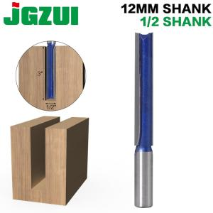 "1 pc 1/2"" ,12MM SHANK Extra long 3"" Blade 1/2"" Cutting Dia. Straight Router Bit Woodworking cutter Tenon Cutter for Woodworking"