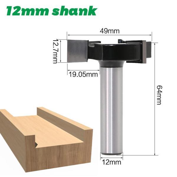 CNC Spoilboard Surfacing Router Bits, 1/2 inch 12mm Shank 2 inch Cutting Diameter, Slab Flattening Router Bit Planing Bit Wood