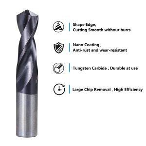 Carbide Drill Bit 1.0-12mm VAPO Coated Gun Drill Bit for CNC Lathe Machine Hole Cutter Twist Drill Bit Metal Drill Tools