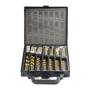 HSS P6M5 Twist Drill Bit Set 99 Pieces Diameter From 1.5mm to 10mm Titanium Coating Wood Metal Hole Drilling Cutter
