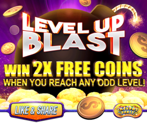 Jackpot Party Casino win 💥 2X your Free Coins