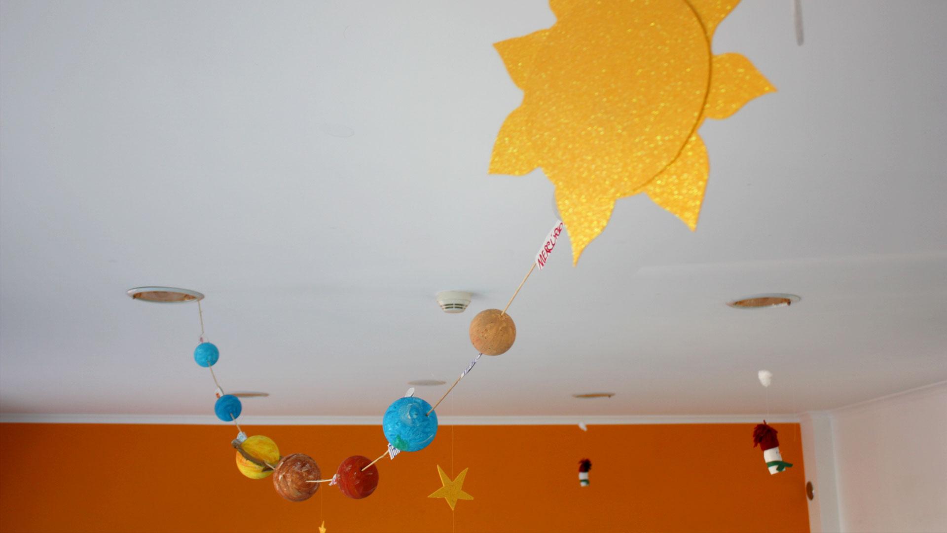 Sala das Pastilhas e o sistema solar
