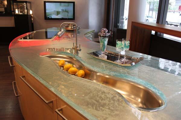 22 Modern And Stylish Glass Kitchen Countertop Ideas