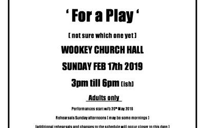 Auditions – Sunday 17th Feb