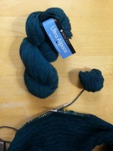 Knitting Herringbone stitch cowl (9)