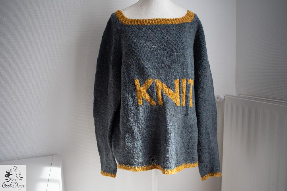 tricoter un pull en laine d'auvergne