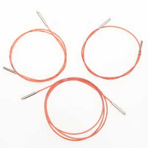 Набір червоних кабелів для зйомних спиць Addi (3 шт)