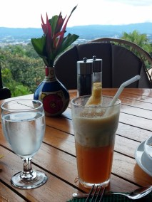 The most amazing pineapple tea drink I've ever had.