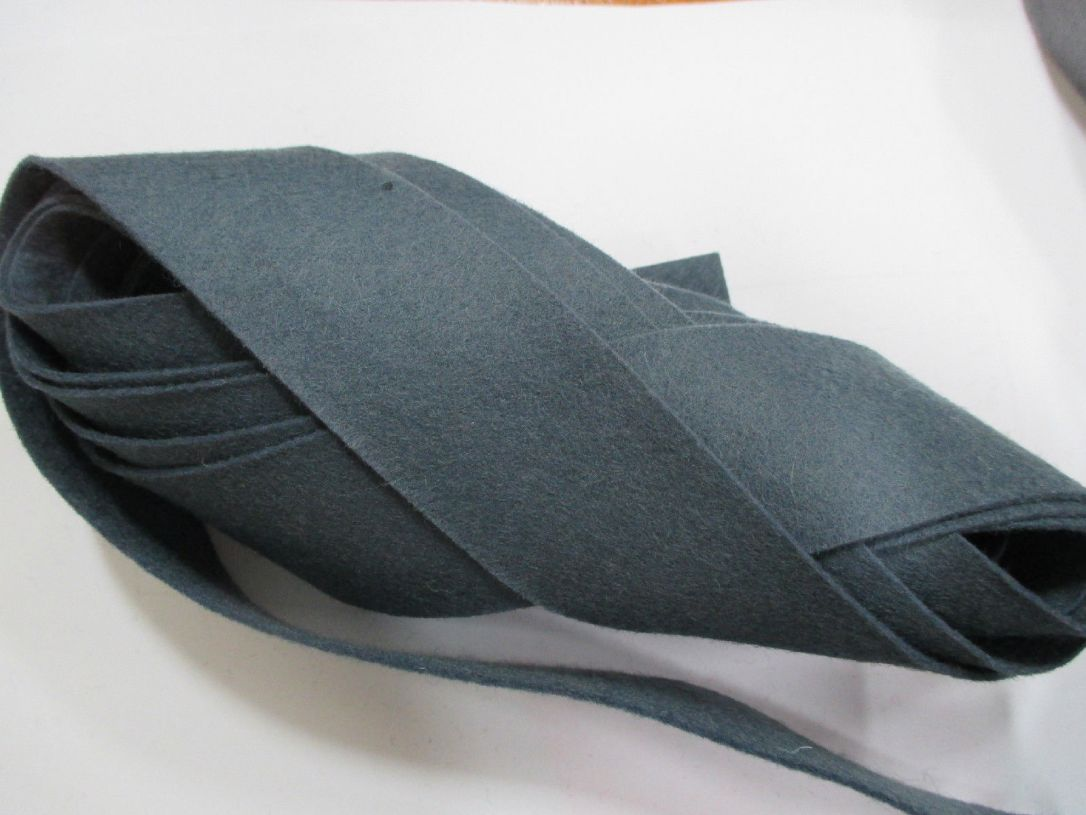 Steel Blue felt binding