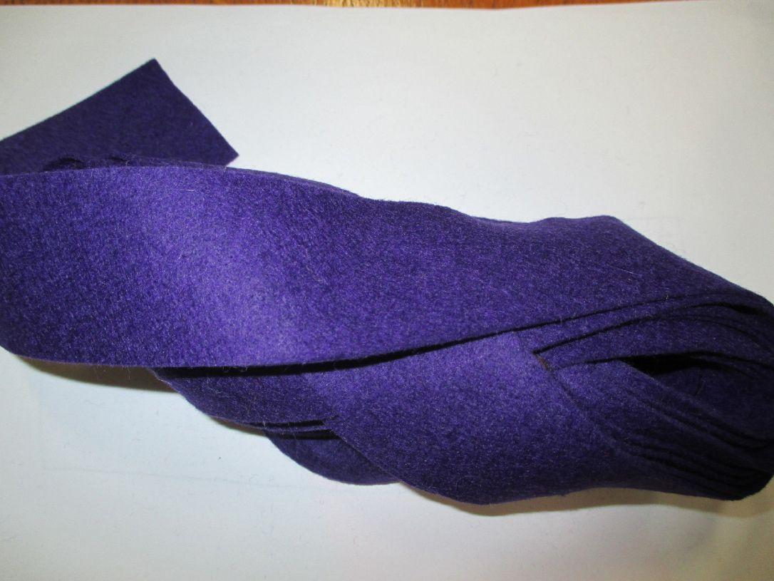 Purple felt binding