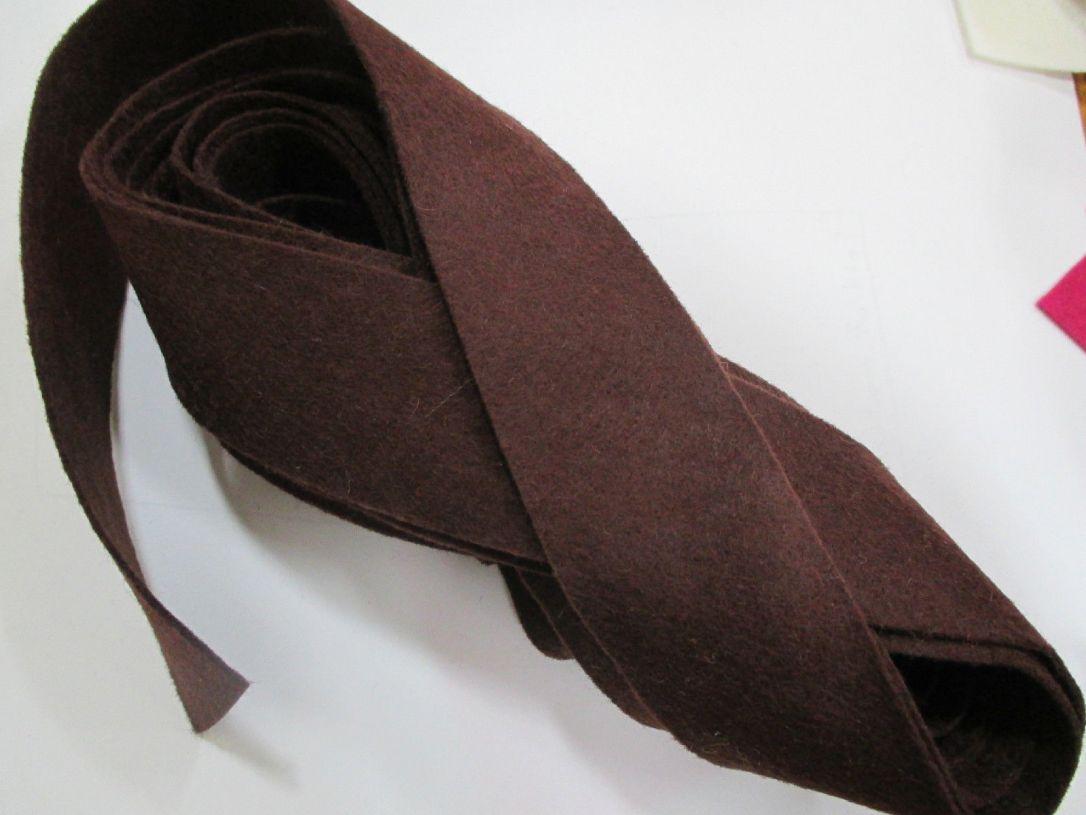 Dark Brown felt binding