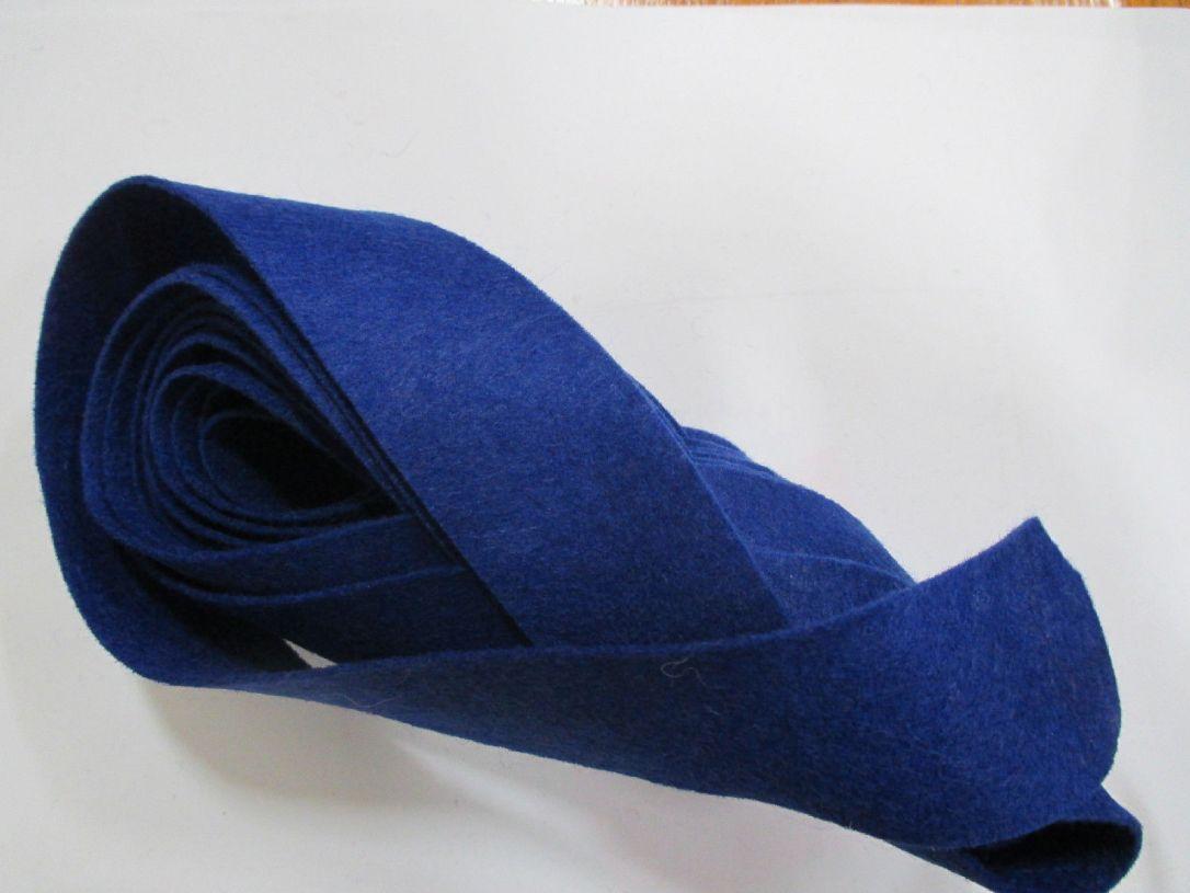 Blue felt binding