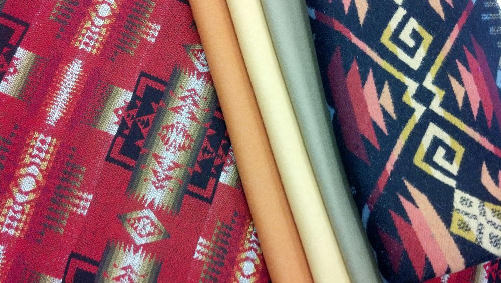 Pendleton wool fabrics.