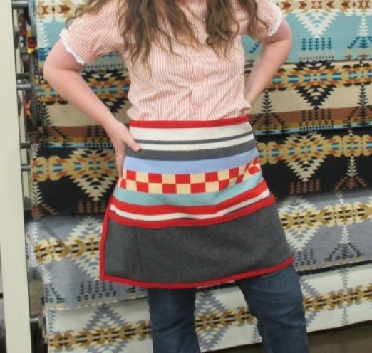 A wool apron like the ones we wear in our store!