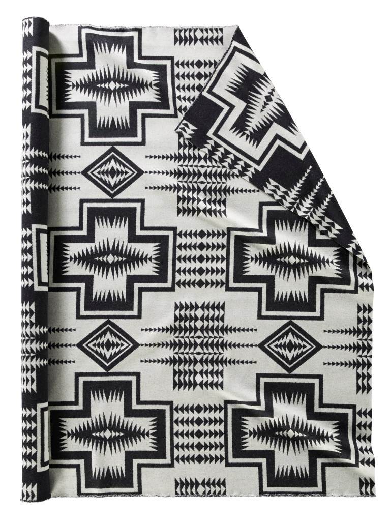 Walking Rock fabric in Black & White