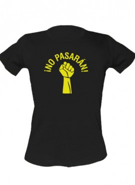 "Woolheads T-Shirt ""No Pasaran – yellow"" woman"
