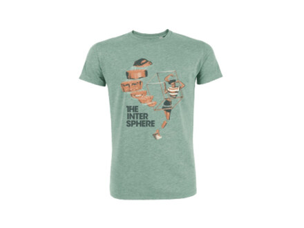 "The Intersphere T-Shirt ""Relations in the Unseen – Mid Heather Green"" Man"